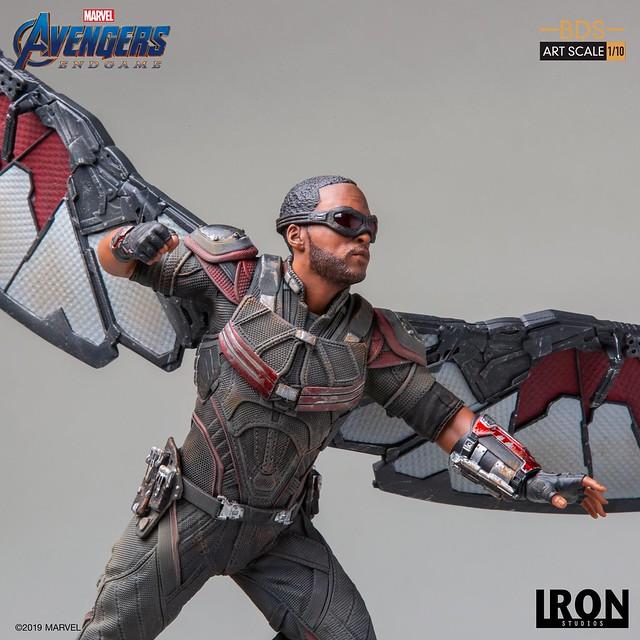"""On Your Left!"" Iron Studios Battle Diorama 系列《復仇者聯盟:終局之戰》獵鷹 Falcon 1/10 比例決鬥場景雕像作品"