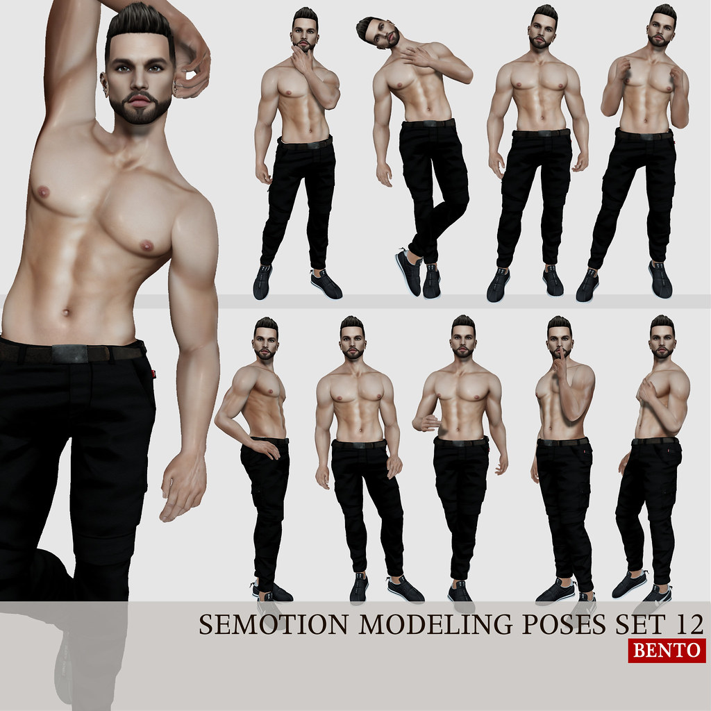SEmotion Male Bento Modeling poses set 12