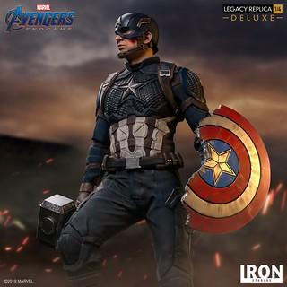 """Avengers Assemble!!"" Iron Studios Legacy Replica 系列《復仇者聯盟:終局之戰》美國隊長 Captain America 1/4 比例全身雕像作品 普通版/豪華版"