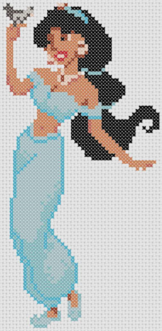 Preview of Disney cross stitch charts: Aladdin's Princess Jasmine