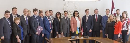 Latvijas un Ukrainas Starpvaldību komisijas ekonomiskās, rūpnieciskās, zinātniskās un tehniskās sadarbības jautājumos septītā sēde.