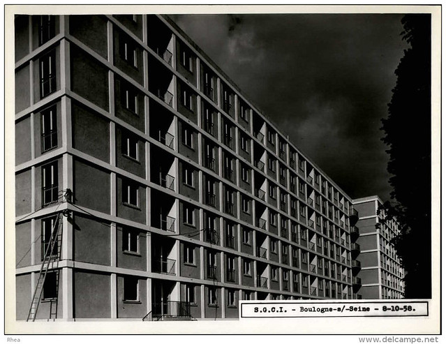 92 - BOULOGNE  1958 - Construction immeuble HLM - par la SCGI Compère à Levallois - mémoire2cité-mémoire2ville---