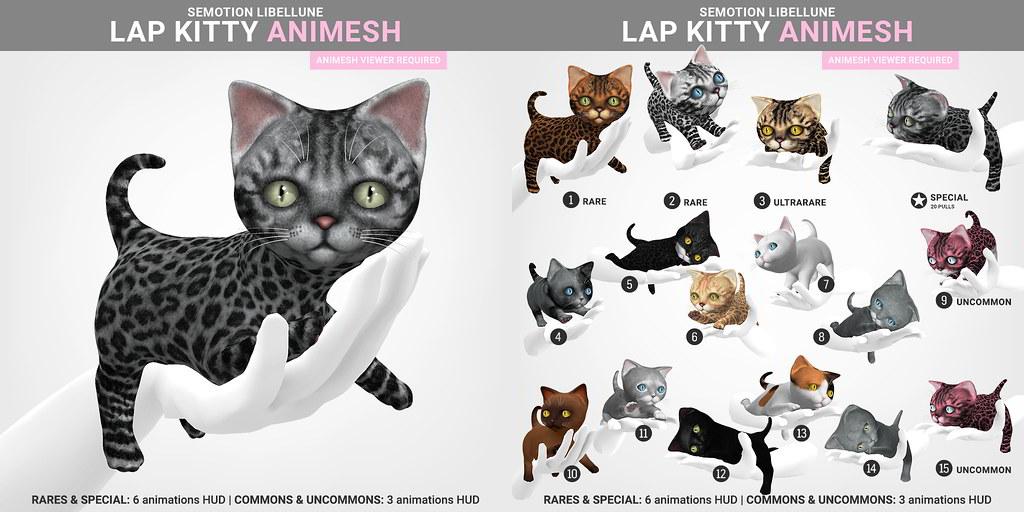 SEmotion Libellune Lap Kitty Animesh Pet