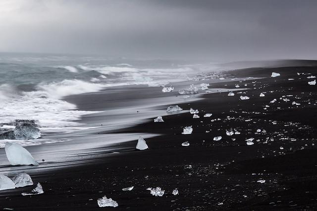 Diamond beach, Islande