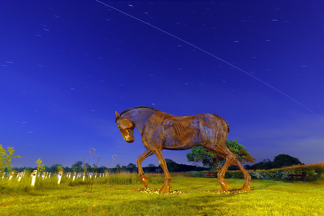 War Horse & The International Space Station 3 90 Second Exposures