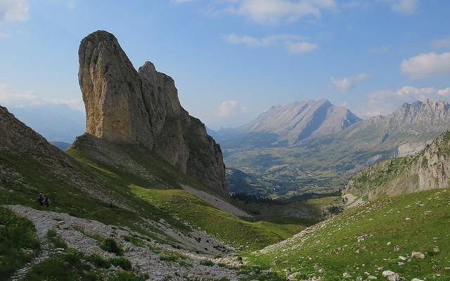 Crête d'Âne depuis le haut du Vallon Froid.