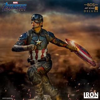 Iron Studios Battle Diorama 系列《復仇者聯盟:終局之戰》美國隊長 豪華版 Captain America Deluxe 1/10 比例決鬥場景雕像作品