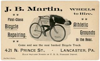 John B. Martin, Bicycle Trick Rider, Lancaster, Pennsylvania, ca. 1903