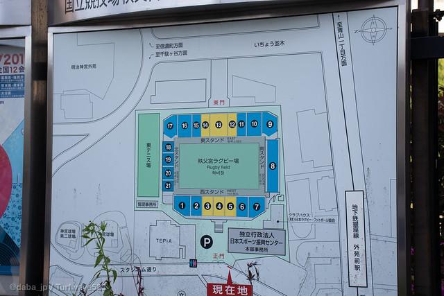 20190508 秩父宮ラグビー場 施設マップ / Prince Chichibu Memorial Rugby Stadium