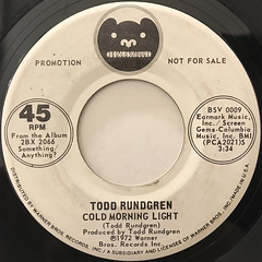 TODD RUNDGREN:HELLO IT'S ME(LABEL SIDE-B)