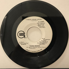 TEENA MARIE:I NEED YOUR LOVIN'(RECORD SIDE-B)