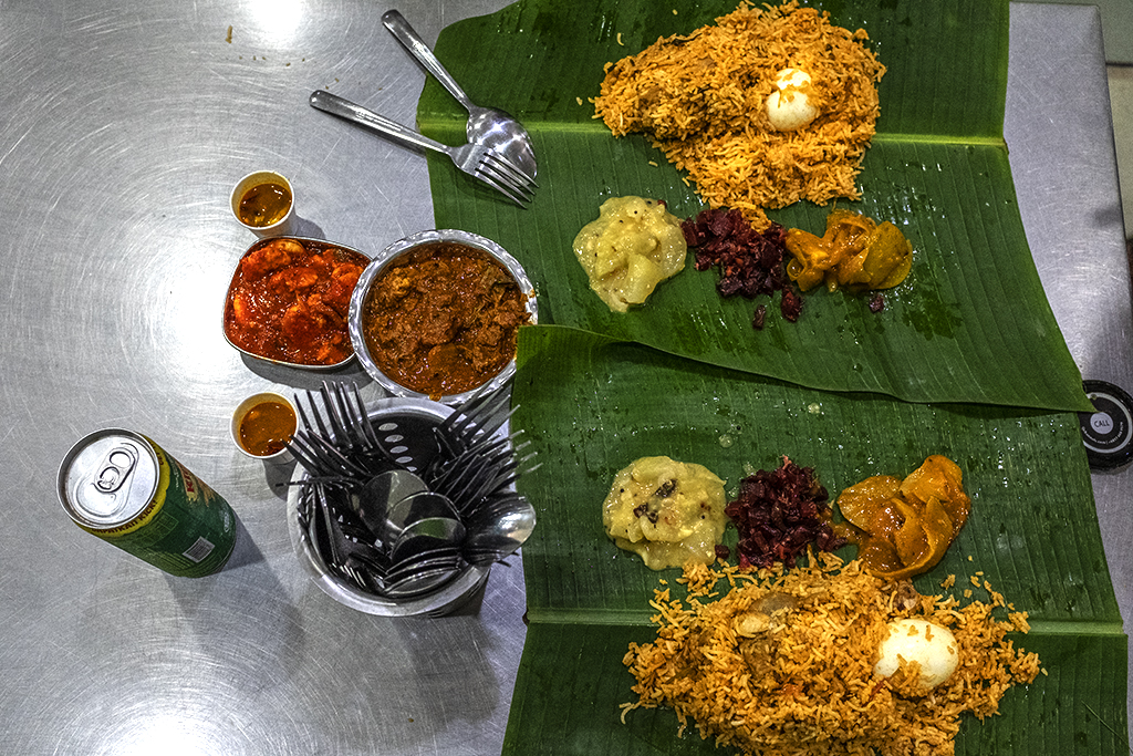 Indian meal with goat and shrimps--Malacca