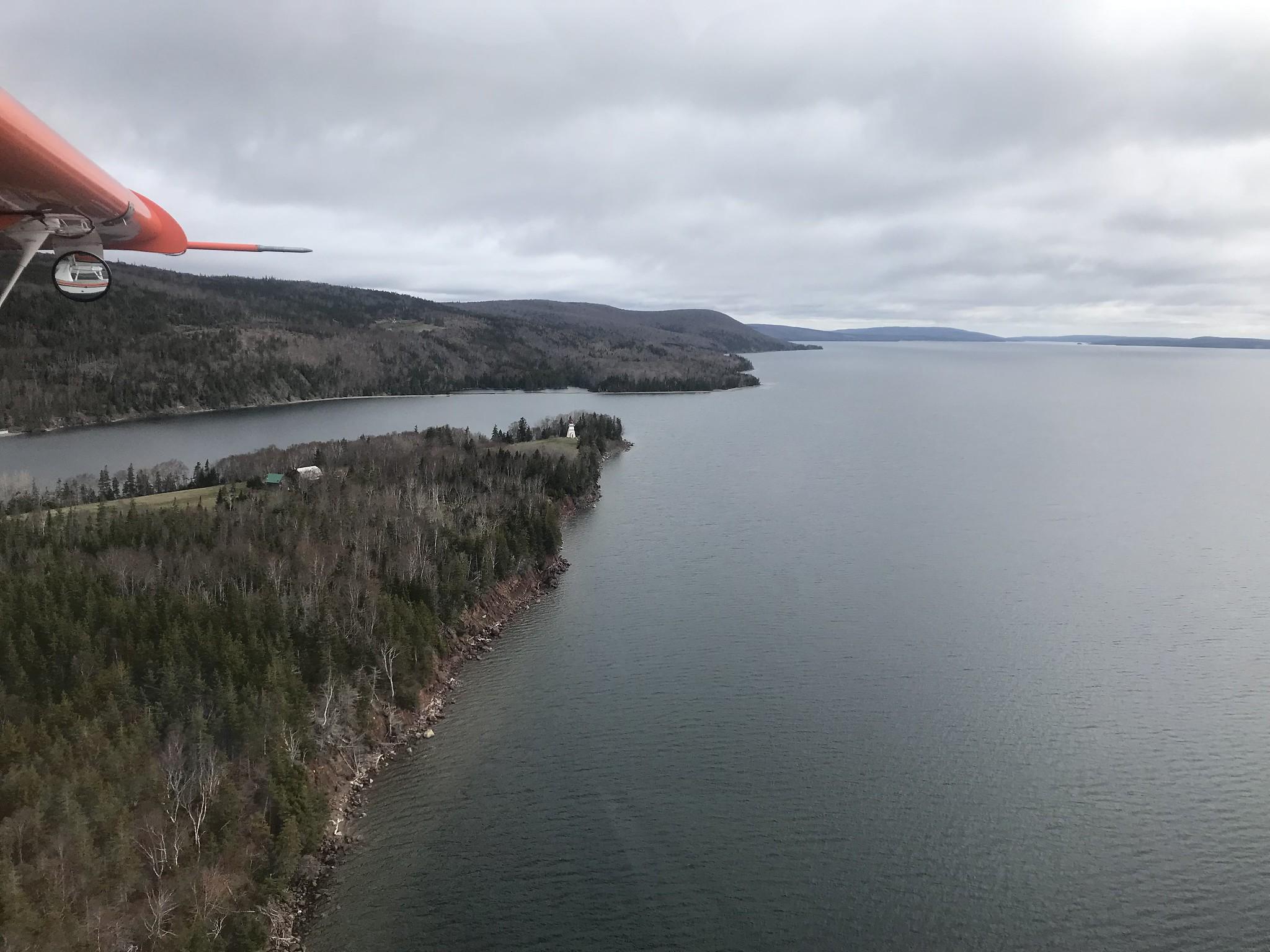Dropping down off the Cape Breton Highlands near Sydney, Nova Scotia. USFWS
