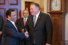Secretary Pompeo Hosts a Working Luncheon