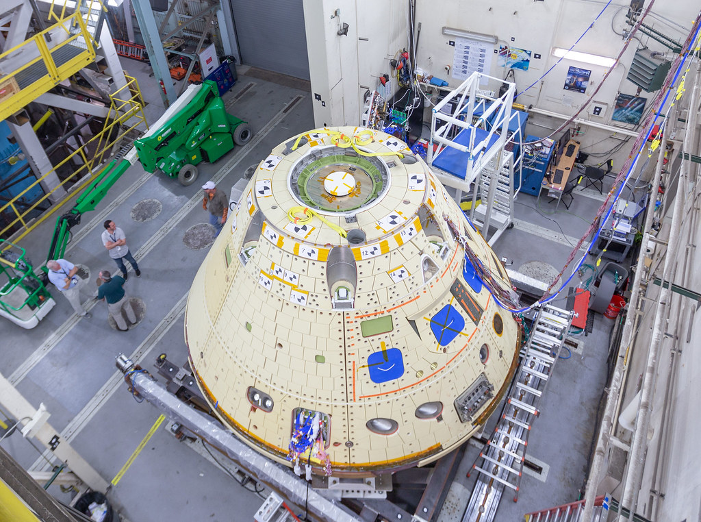 Orion Forward Bay Cover Jettison Test preparation
