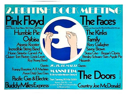 Poster - 2. British Rock Meeting , 20.  21. 22. Mai 1972