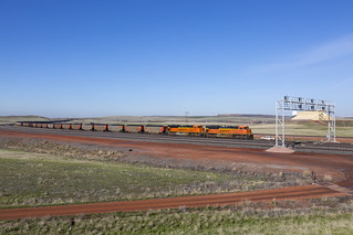 2019-05-10 0821 BNSF 9270 on WB Coal Train, W Cordero Jct, WY