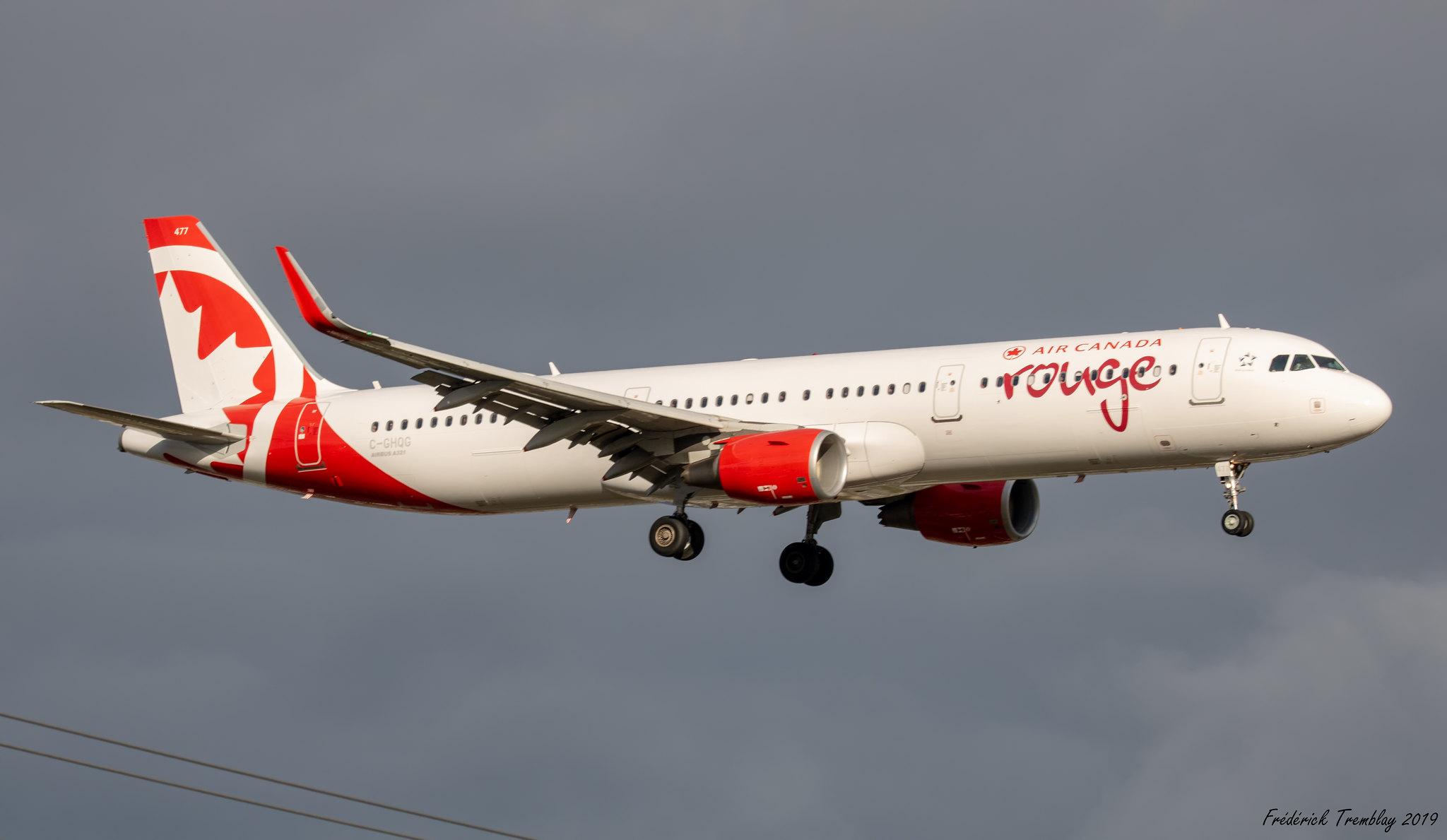Air Canada Rouge / Airbus A321-211 / C-GHQG / YQB / Ex WOW air TF-MOM