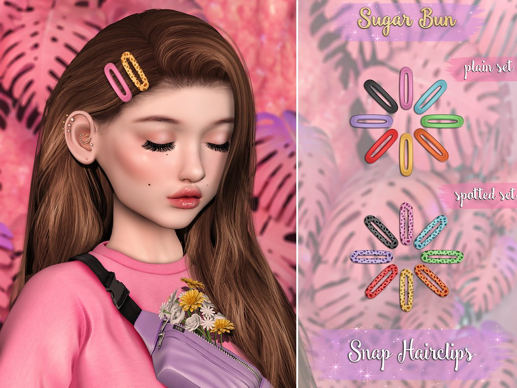 .SugarBun. Snap Hairclips @Flora