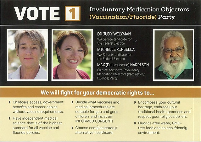 Involuntary Medical Objectors How-to-vote, 2019 Election