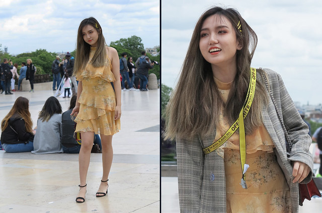 Korean girl fond of Off-White fashion label