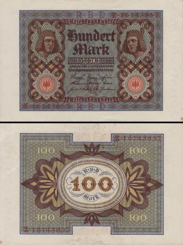 100 Mariek Nemecko 1920, P69b