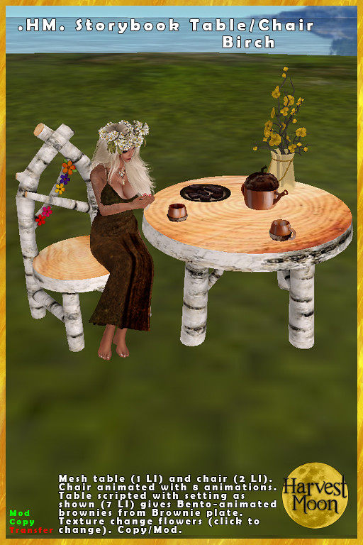 Harvest Moon – Storybook Chair & Table – Birch
