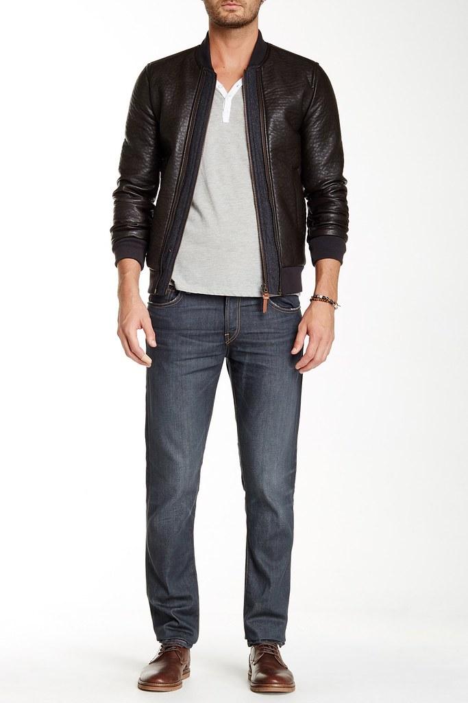 J BRAND Pour des hommes Tyler 140239E452 Jeans Slim Keene gris Taille32W