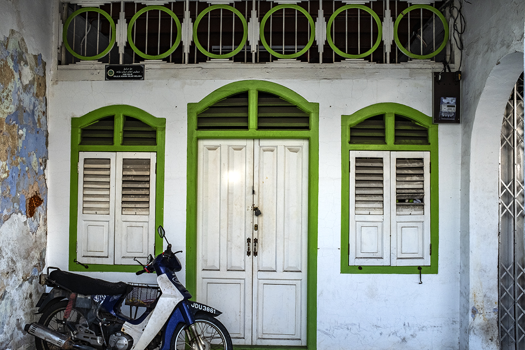 Green and white house--Malacca