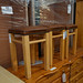 Wooden high stools