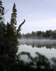 Misty Boundary Waters morning