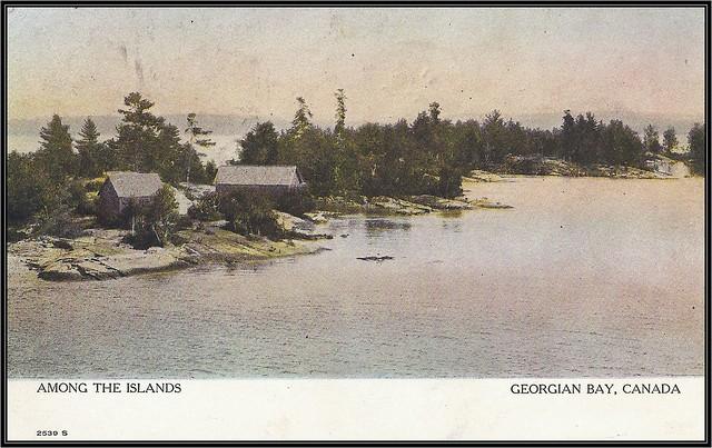 c. 1908 Warwick Bro's Postcard - Among the Islands at Georgian Bay, Ontario, Canada