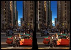 Bay Street, Toronto 3-D / CrossView / Stereoscopy
