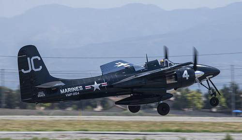 F7F Tigercat of VMP-254 Takes Off