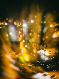 Night, lights, drops, hapiness...