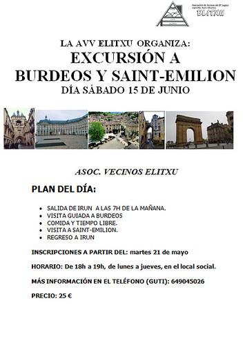 AVV Elitxu: Excursión a Burdeos y Saint-Emilion