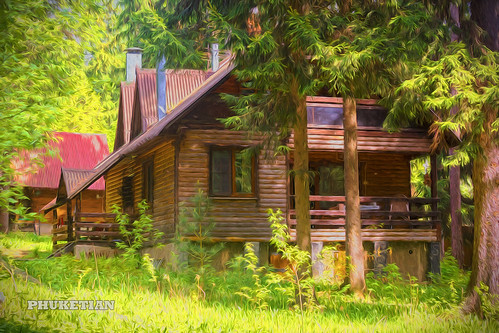 Wooden house in the forest, Russia | by Phuketian.S