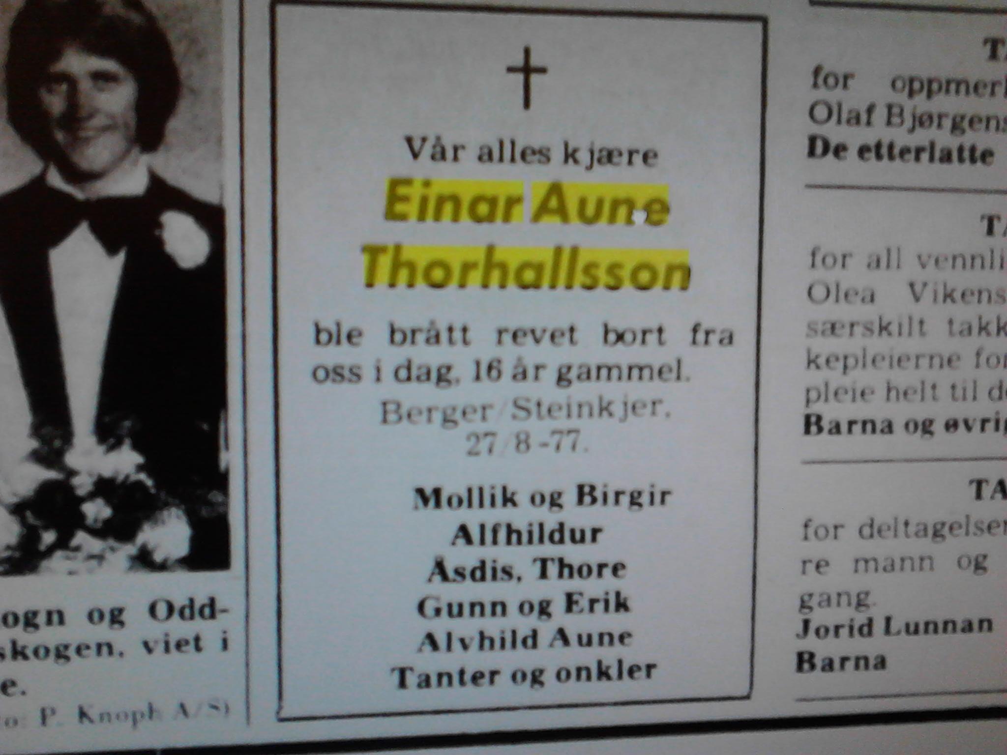 1c8e1f3a Broren til Erik Thorhallsson ble kjørt ihjel som sekstenåring, (av en  familievenn). Jeg lurer på om bilføreren kan ha vært min far, (som gikk på  piller, ...