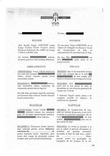 Contrato Vivienda Social Ayuntamiento de Irun