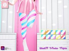 !cream spaghetti hair! Kawaii Tricolor Tights AD