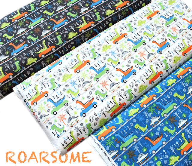 Camelot Fabrics Roarsome Dinosaurs on the Go
