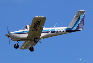 G-BGBK Piper PA-38-112 Tomahawk, Smart People Don't Buy Ltd, Gloucestershire Airport, Staverton, Gloucestershire