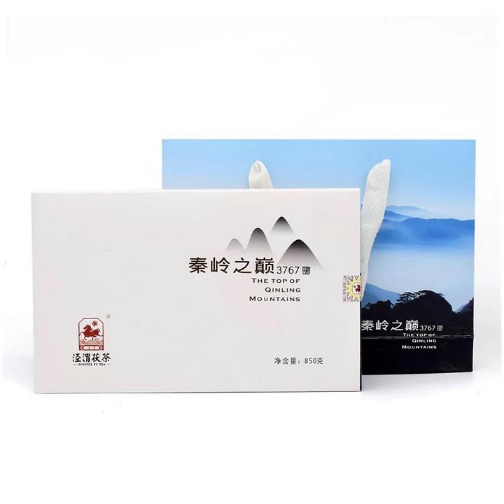 """2018 JingWei FuCha """"Qin Ling Zhi Dian"""" (The Peak of Qingling Mountain) Brick 850g Dark Tea ShanXi"""