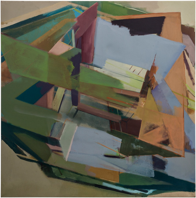 Rekursive II, Acrylic-Eggtempera-Pigment, 100 x 100 cm, 2018