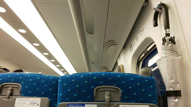東海道新幹線車内