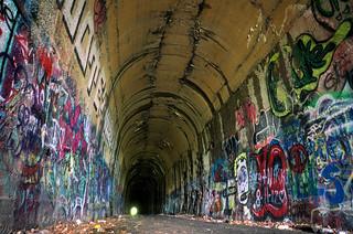 abandoned railroad tunnel, Clinton MA (west end)