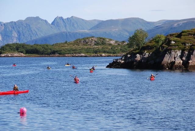 Kayaks en Lofoten