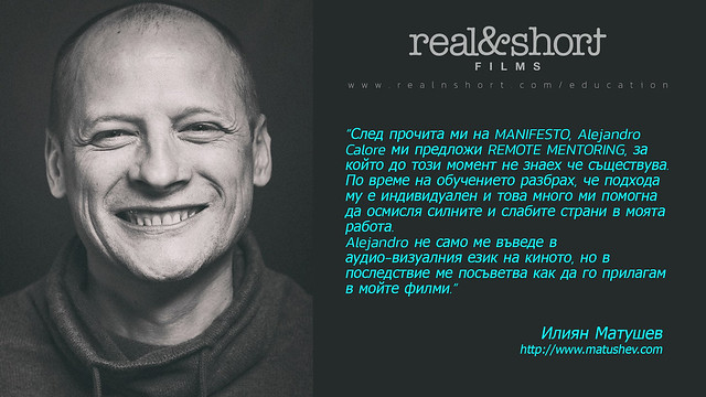 ONLINE MENTORING with Alejandro Calore (REAL&SHORT®) Audiovisual Language & Storytelling