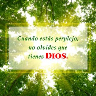 Cuando está perplejo,no olvides que tienes Dios