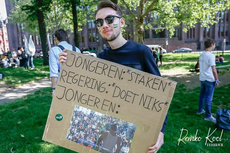 Klimaat actie scholieren Utrecht 24-05-2019